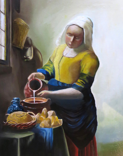 Jan Vermeer`s The Milkmaid
