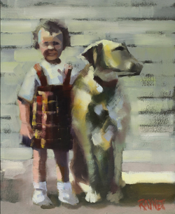A Girl and Her Dog by Shirley Rayner