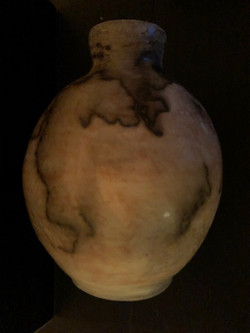 Horse Hair Pottery Vessel