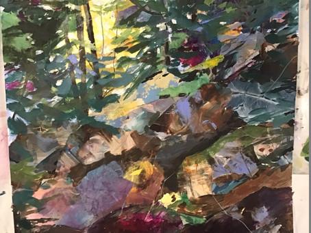 Joanne Harris Landscape Paper Collage & Acrylic