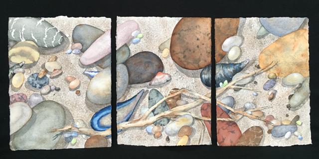 Sticks and Stones Triptych