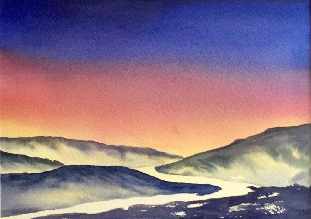 Sunrise Over Blue Hills