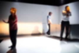 Caress Ache production still, Griffin. Anthony Skuse. Set and Costume Design Sophie Fletcher. PHOTO CREDIT Brett Boardman