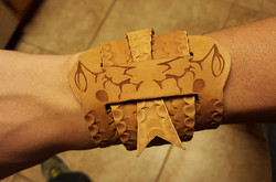 leather snake cuff