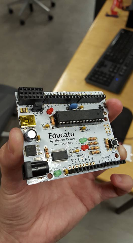 Arduino board soldered