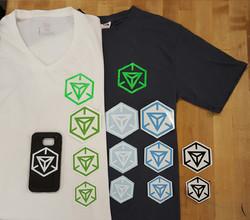 Ingress shirts stickers