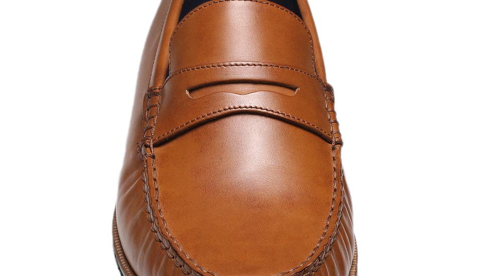 Chaussure bateau en cuir Henry