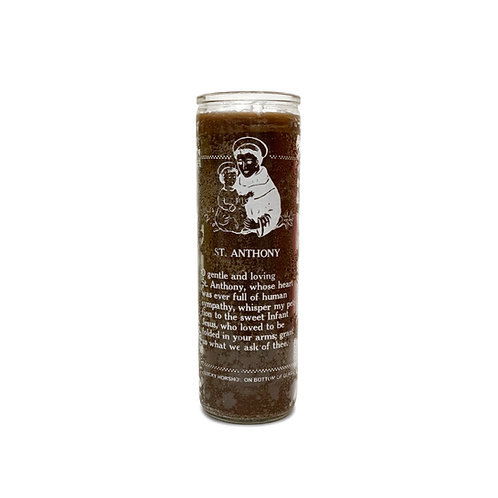 Saint Anthony Brown Candle