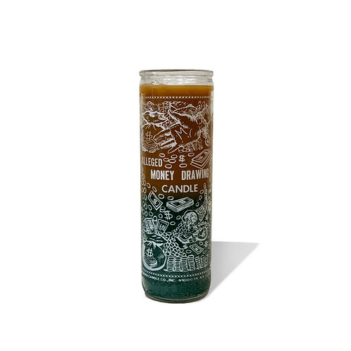 Money Drawing Candle - Gold & Green