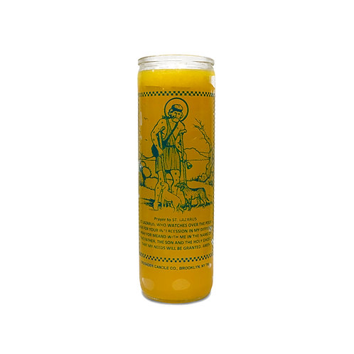Saint Lazarus Yellow Candle