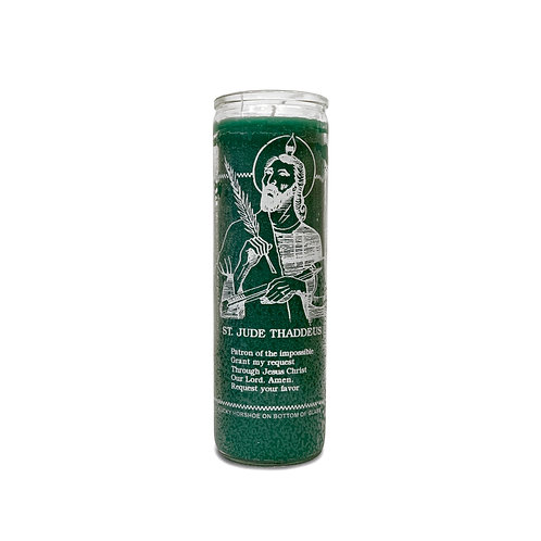 Saint Jude Green Candle