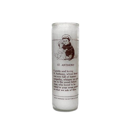 Saint Anthony White Candle