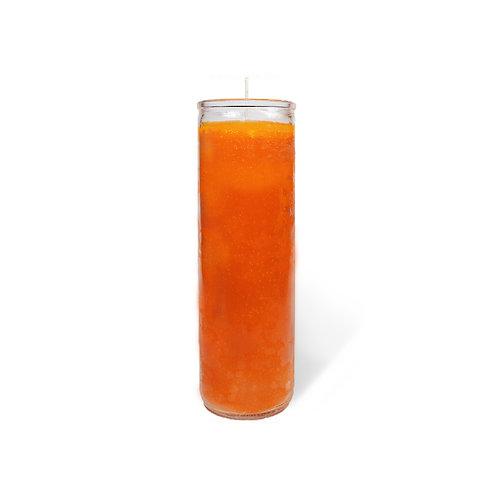 Orange Plain 7 Day Candle