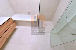 Bathroom large format tiling