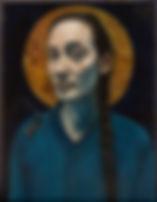 "Moyu Fan Zhang,""Montagne d'hiver"",Oil on canvas,Year:2017, Huile sur toile, Année : 2017"