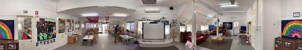 Panorama of the inside of the kindy 2