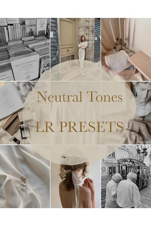 Neutral Tones lightroom Mobile Presets