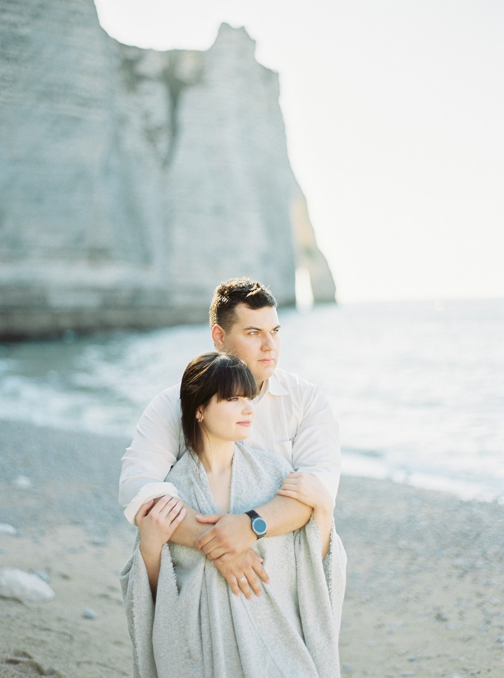 Fine art film wedding photographer in Etretat, France
