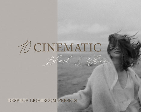 10 Cinematic B&W Lightroom Presets