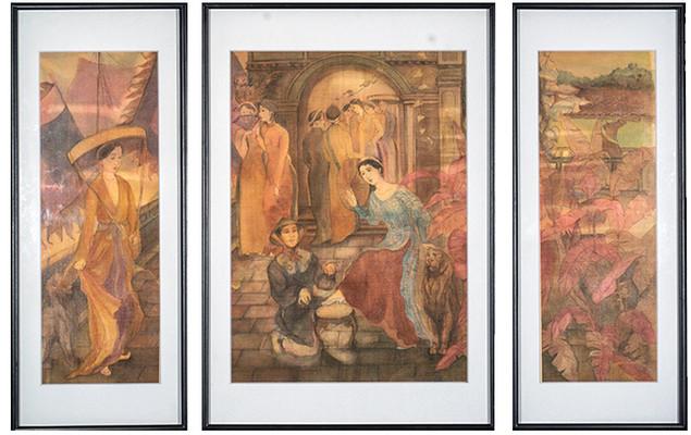 """Cinderella"" (Bộ Ba Tranh   Triptych)"