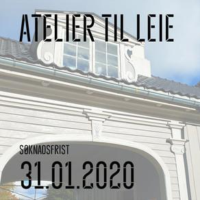 KUNSTNER SØKES TIL ATELIERFELLESSKAP