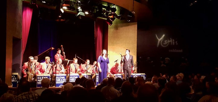 Maria Schafer with the Glenn Miller Orchestra at Yoshi's Oakland