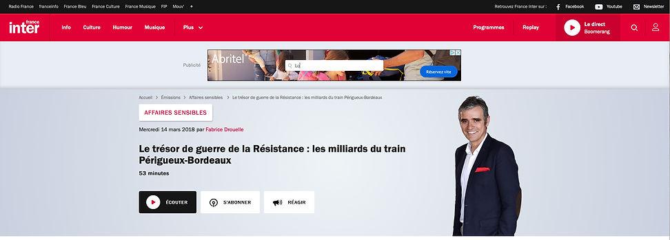 France Inter Affaires Sensibles Fabrice