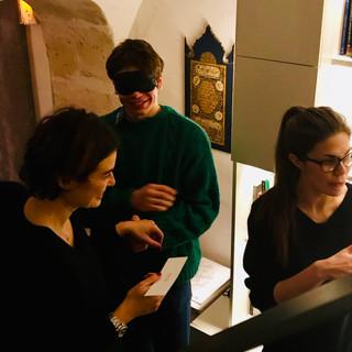 Galerie Alexis Renard Visite sensorielle Gabrielle Lesage Art Plus
