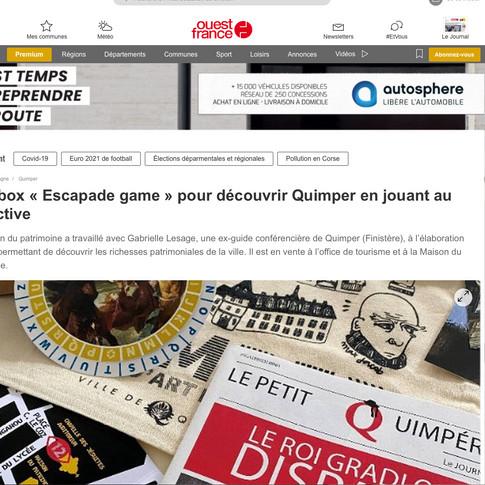Ouest France 28052021 Gabrielle Lesage A
