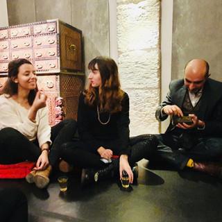 Visite sensorielle Galerie Alexis Renard Gabrielle Lesage Art Plus