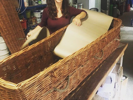 Behind the scenes ! Coffin lining.