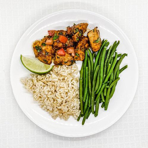 Honey Sriracha Chicken- Brown Rice- Cilantro Lime Green Beans