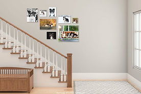 Image gallery on wall