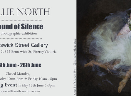 Your INVITIED to a Photography EXHIBITION by Kellie North                 ~ Sound of Silence~