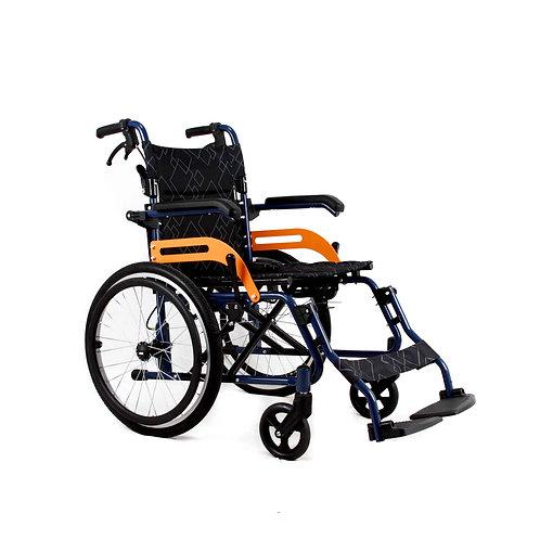 Folding Aluminium Transit Self Propelled Manual Wheelchair