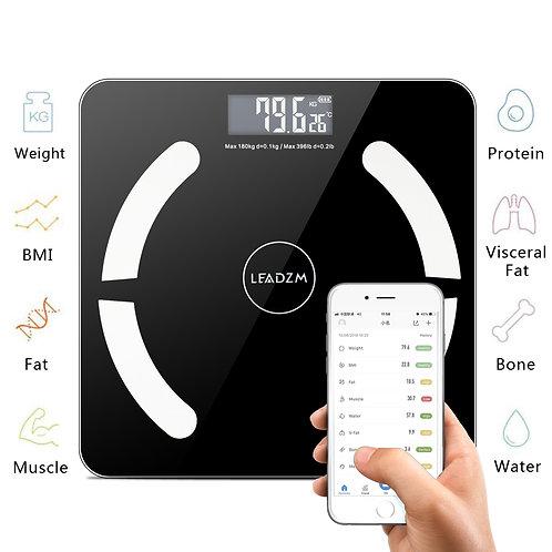 Bluetooth Smart Digital Weighing Scale Body Fat Scale OKOK App Black