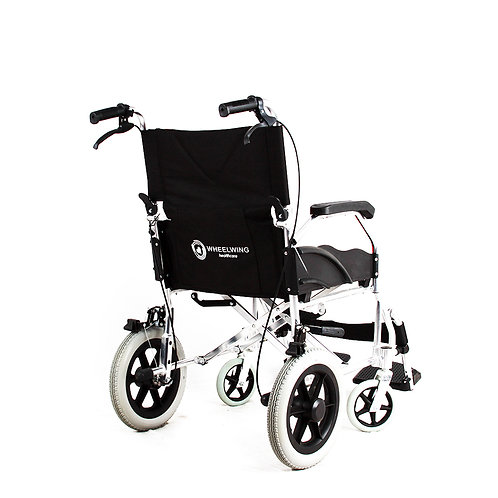Wheelchair Fully Folding Portable Transit Travel Chair Transport