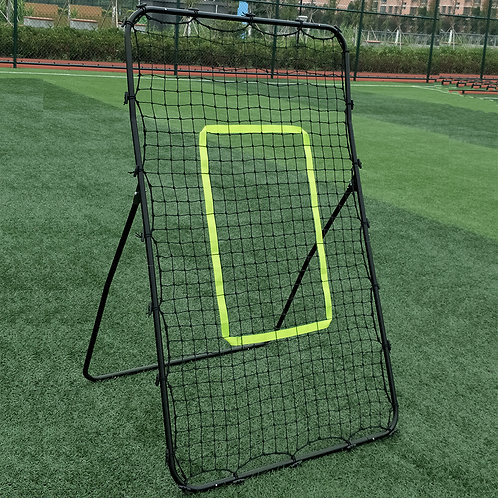 Professional Galvanized Steel Pipe Rebound Soccer/Baseball Goal Black