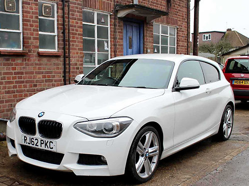 2013 BMW 125D 2.0 M SPORT 3 Doors Manual White Black Leather AC 2 Owners