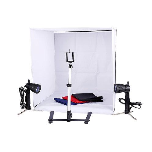 Vamery 60cm Shelves Mini Studio Set Black & White & Red & Blue UK