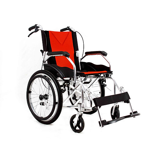 Aluminium Travel Wheelchair Lightweight Fully Folding Self Propelled