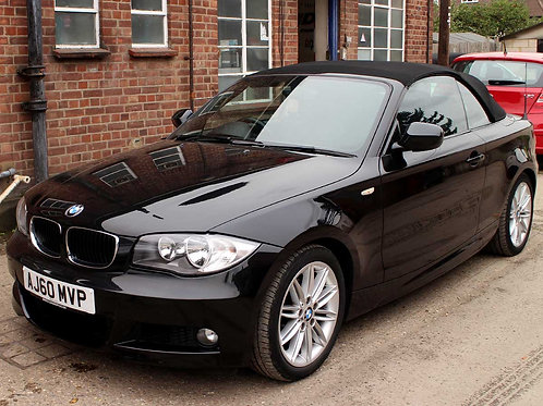 2011 BMW 118d M Sport Convertible Auto Climate Black 43,000 Miles Full Leather
