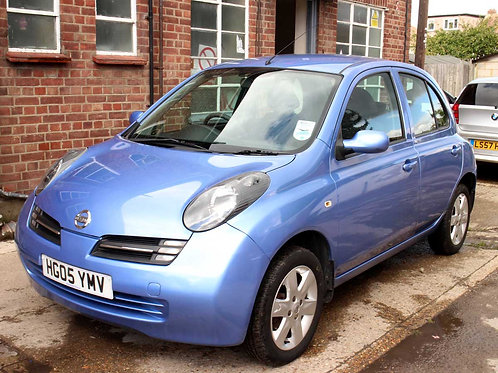2005 Nissan Micra 1.2 16v Urbis 5 Door Manual PAS Metallic Blue Air Con 1 Years