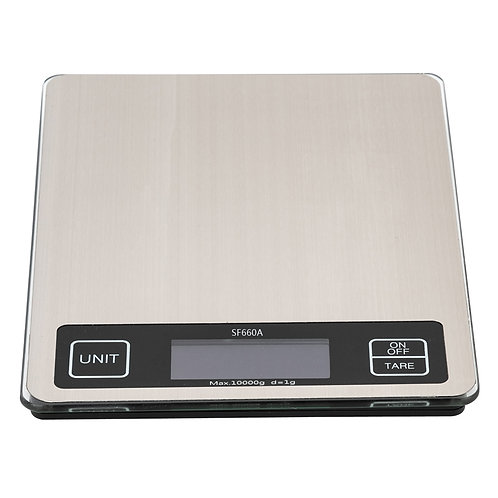 Touch Screen Multi - Unit Switch Kitchen Scale Stainless Steel Countertop