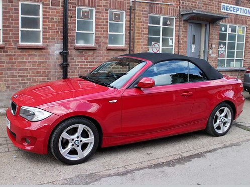 2011 BMW 118i Sports Convertible Manual AC Red with Black Hood 1 Previous Owners