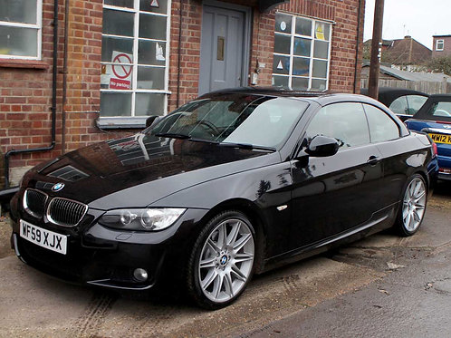 2009 BMW 330I 3.0 M Sport Highline Convertible Black Auto Petrol Red Leather