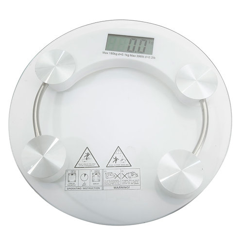 High Strength Toughened Glass 4-Digits LCD Display Electronic Weighting Scale