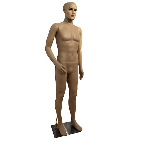 K4 Male Curved Right Arm Straight Foot Body Model Mannequin Skin Color