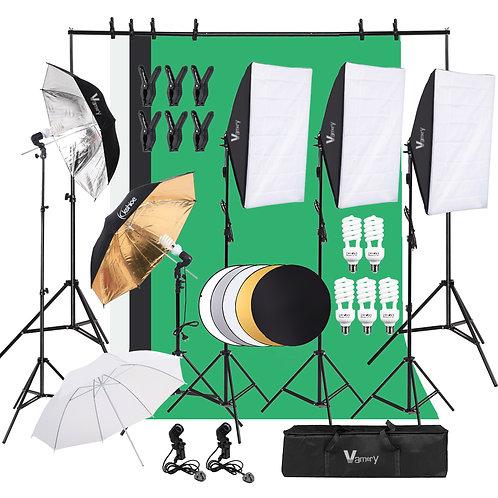 Vamery PK001 Lambency Box Lambency Umbrella with Five-in-One Reflector Set
