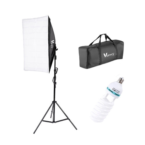 Vamery 135W Bulb 5070 Single Head Soft Light Box One Light Set UK Plug